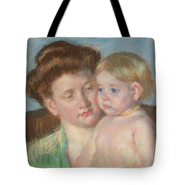 Mother And Child Tote Bag by Celestial Images