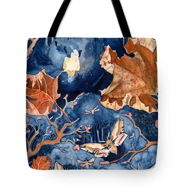 Moths To A Flame Tote Bag by Katherine Miller