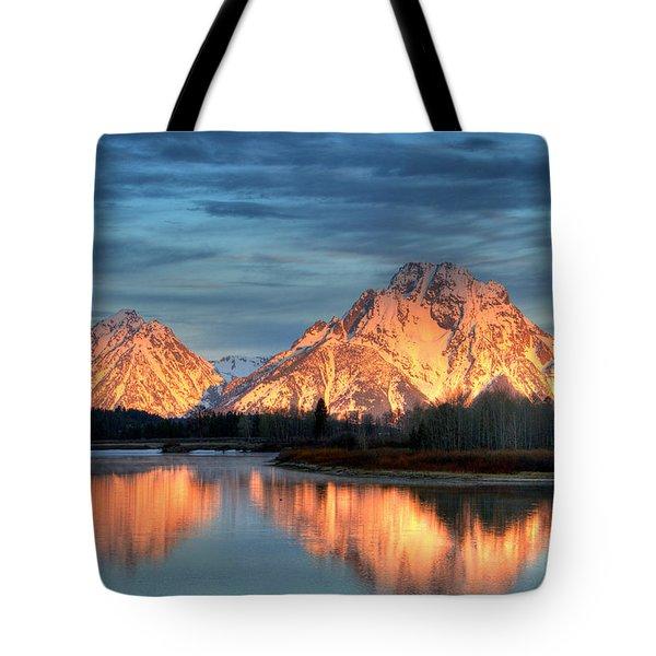 Mount Moran Tote Bag by Steve Stuller
