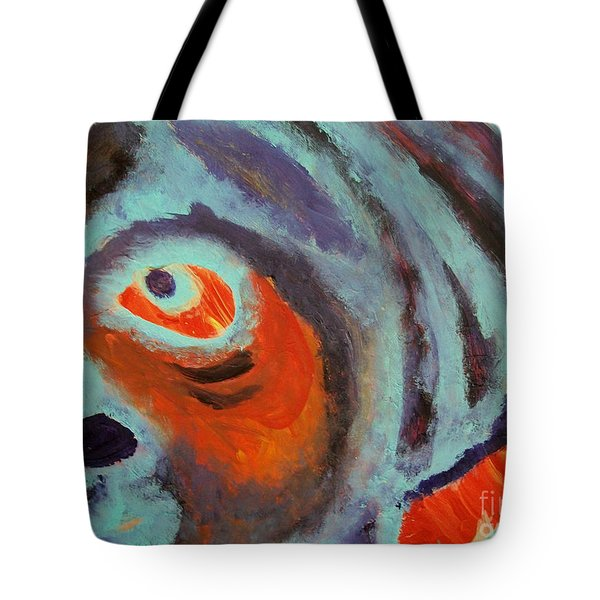 Mr Pugglesworth Aint Happy Tote Bag by Laurette Escobar
