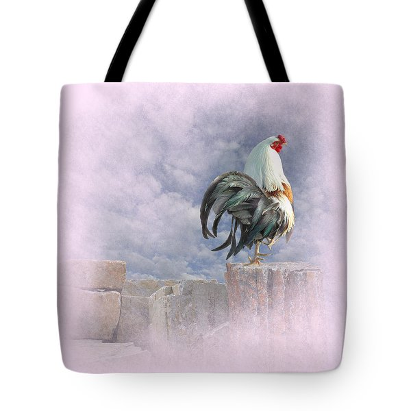 Mr Rooster Tote Bag by Jeff Burgess