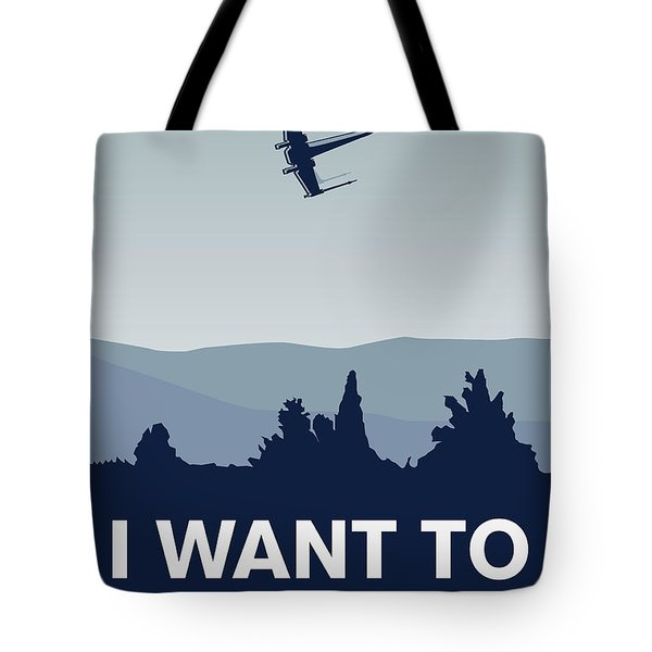 My I Want To Believe Minimal Poster-xwing Tote Bag