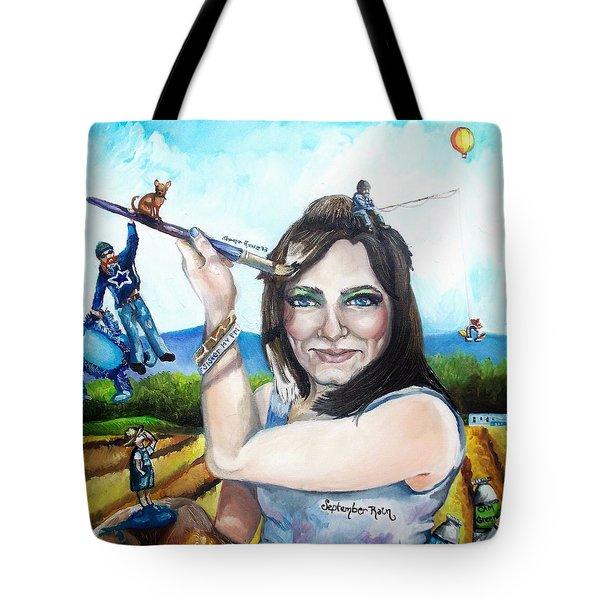 My Life As A Painter Tote Bag by Shana Rowe Jackson