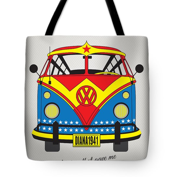 My Superhero-vw-t1-wonder Woman Tote Bag