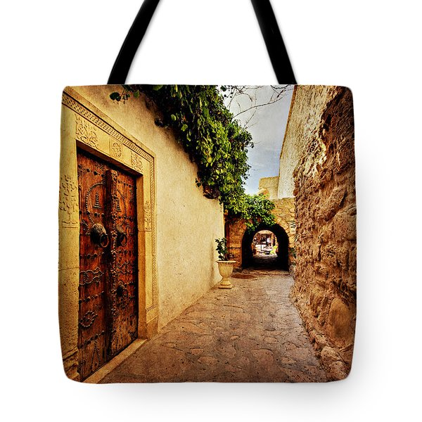 Narrow Street In Souk / Hammamet Tote Bag
