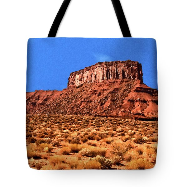 Tote Bag featuring the painting National Navajo Tribal Park by Bob and Nadine Johnston