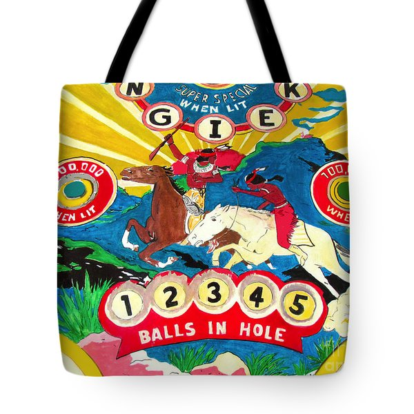 Native Pinball Tote Bag by Beth Saffer