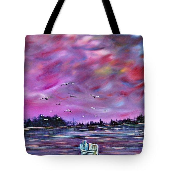 Neuse River Gulls North Carolina Tote Bag