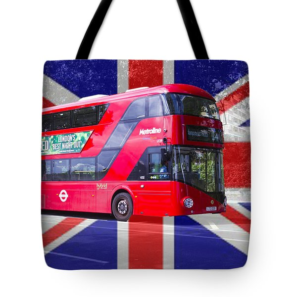 New London Red Bus Tote Bag by David French