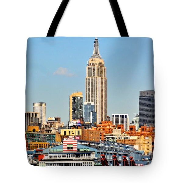 New York City Skyline With Empire State Tote Bag