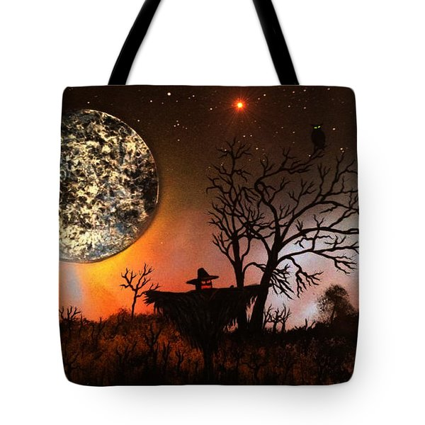 Night Of The Scarecrow  Tote Bag