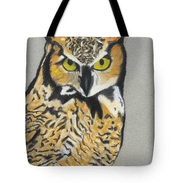 Tote Bag featuring the painting Night Owl by Jeanne Fischer