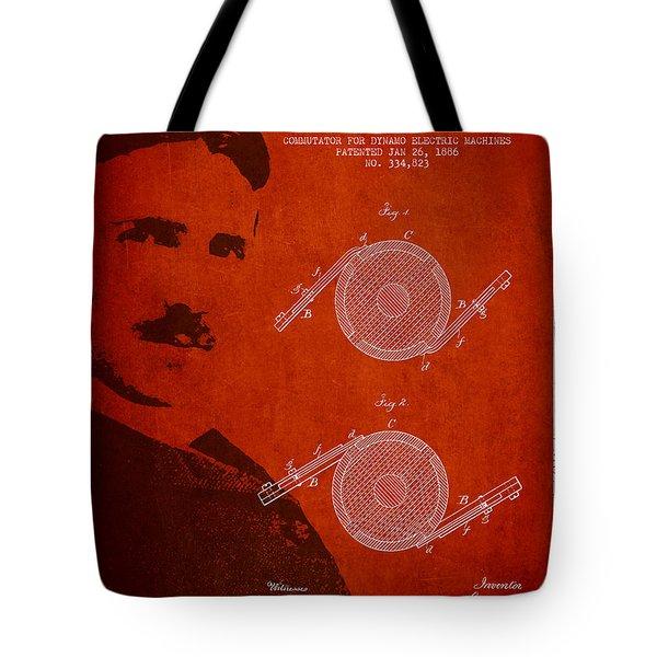 Nikola Tesla Patent From 1886 Tote Bag by Aged Pixel