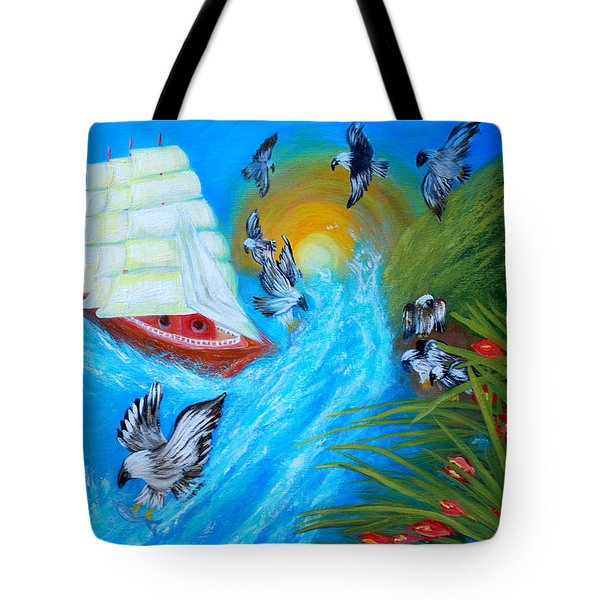 Nine Eagles For Success. Soul Collection Tote Bag by Oksana Semenchenko