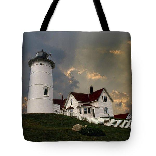 Nobska Lighthouse Color  Tote Bag
