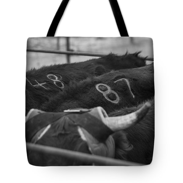 Numbered Tote Bag by Amber Kresge