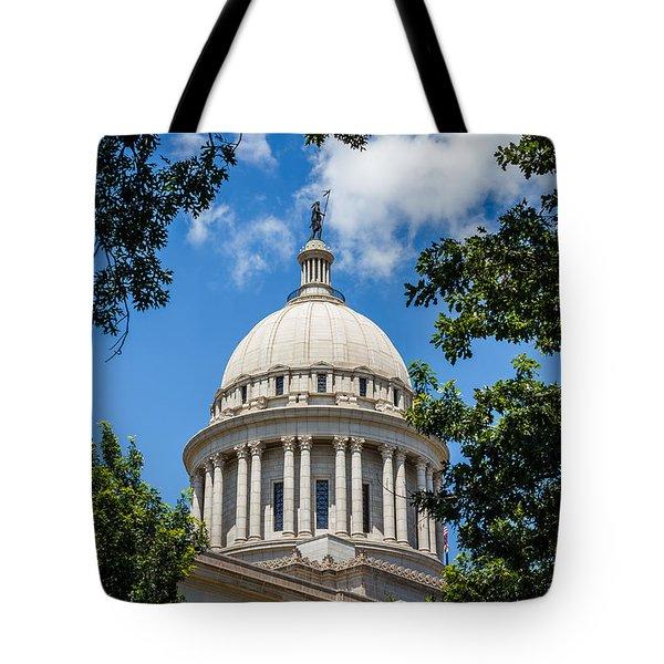 Oklahoma State Capital Dome Tote Bag