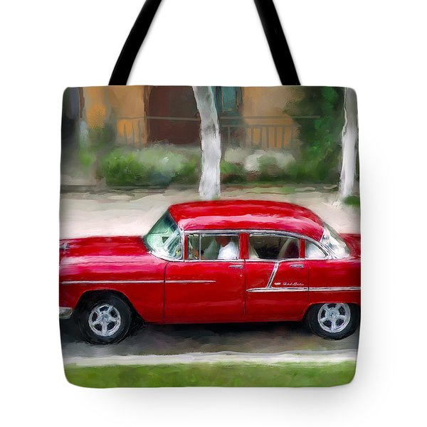 Tote Bag featuring the photograph Red Bel Air by Juan Carlos Ferro Duque
