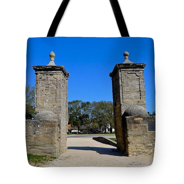 Old City Gates Of St. Augustine Tote Bag