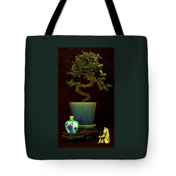 Old Man And The Tree Tote Bag by Elf Evans