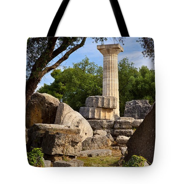 Olympia Ruins Tote Bag by Brian Jannsen