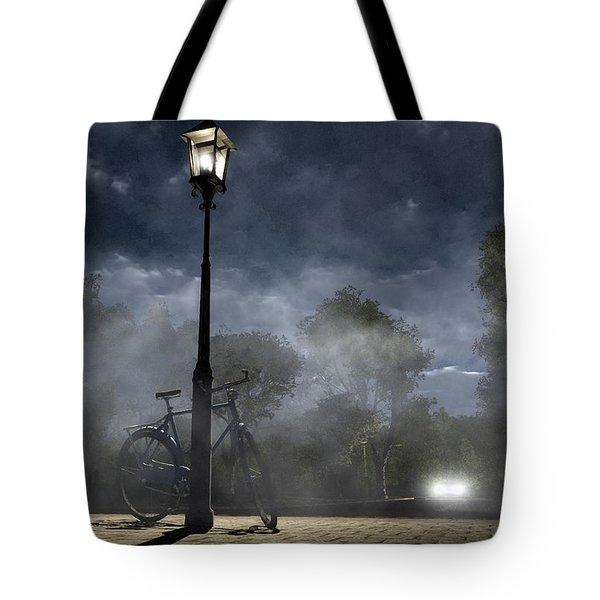 Ominous Avenue Tote Bag by Cynthia Decker