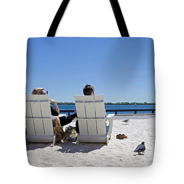 On The Waterfront Tote Bag by Keith Armstrong