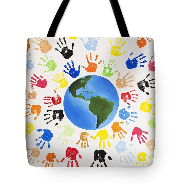 One World Tote Bag by Tim Gainey