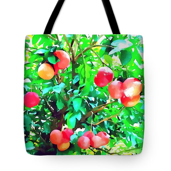 Orange Trees With Fruits On Plantation Tote Bag by Lanjee Chee