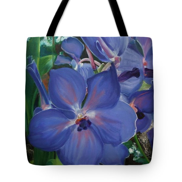 Orchids Tote Bag by Donna Tuten