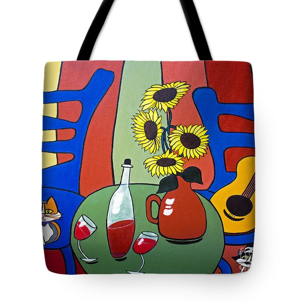 Tote Bag featuring the painting Oreo by Barbara McMahon