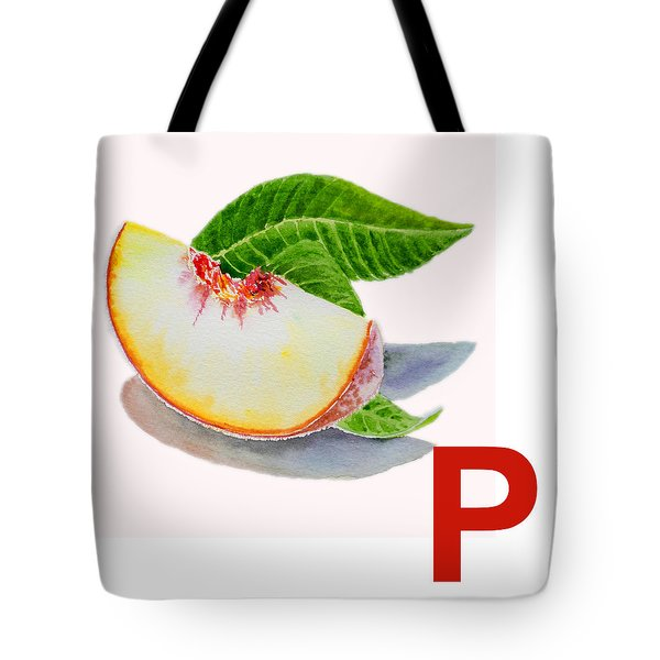 P Art Alphabet For Kids Room Tote Bag by Irina Sztukowski