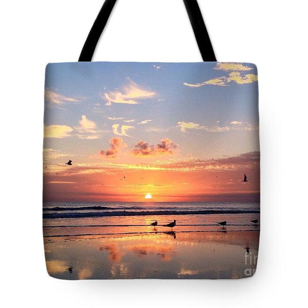 Tote Bag featuring the photograph Painted Sky by LeeAnn Kendall