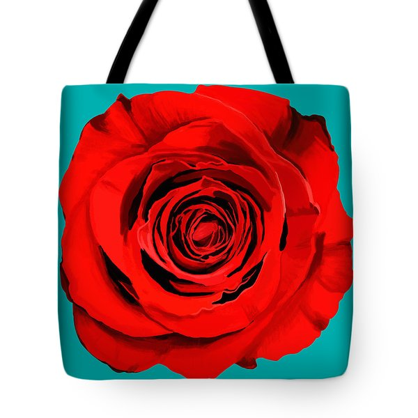 Painting Of Single Rose Tote Bag by Setsiri Silapasuwanchai