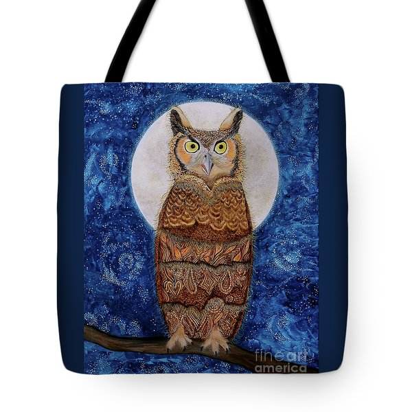 Paisley Moon Tote Bag by Deborha Kerr