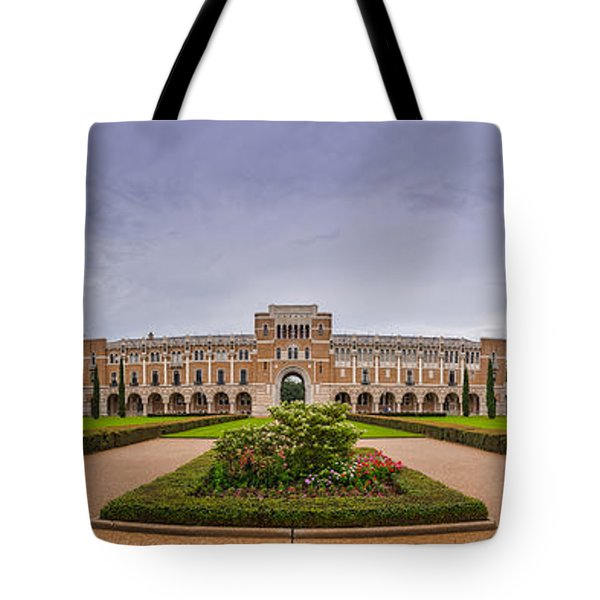 Panorama Of Rice University Academic Quad - Houston Texas Tote Bag