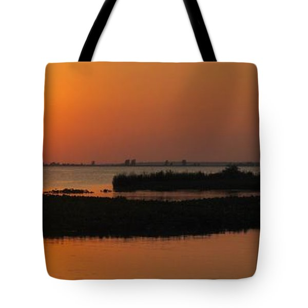 Panoramic Sunset Tote Bag by Frozen in Time Fine Art Photography