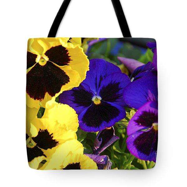 Pansies Tote Bag by Elena Elisseeva