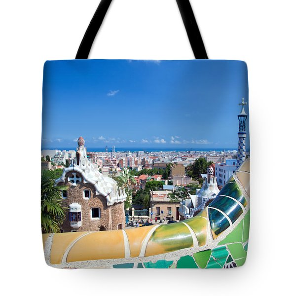 Park Guell In Barcelona Tote Bag by Michal Bednarek