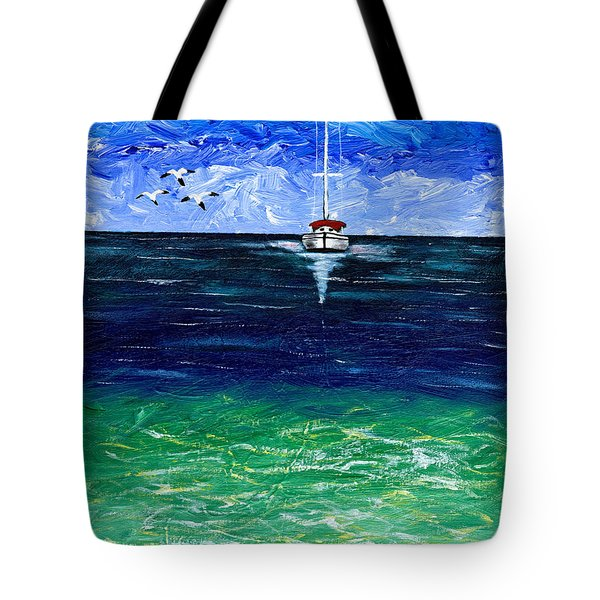Peaceful Tote Bag by Laura Forde