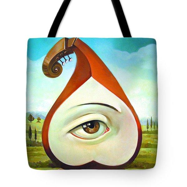 Musical Pear Tote Bag