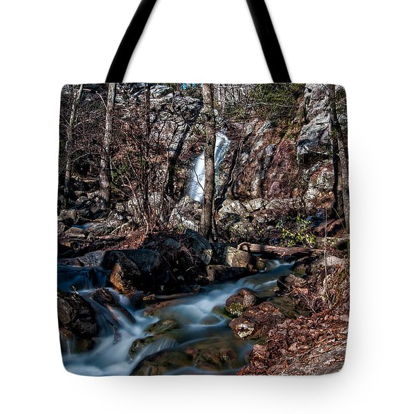 Tote Bag featuring the photograph Peavine Falls by Andy Crawford