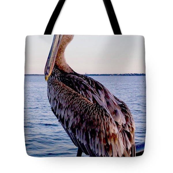 Pelican At Port Tote Bag