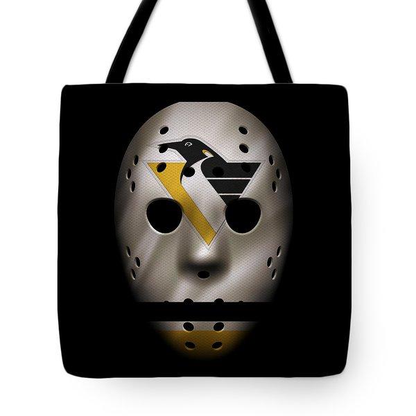 Penguins Jersey Mask Tote Bag
