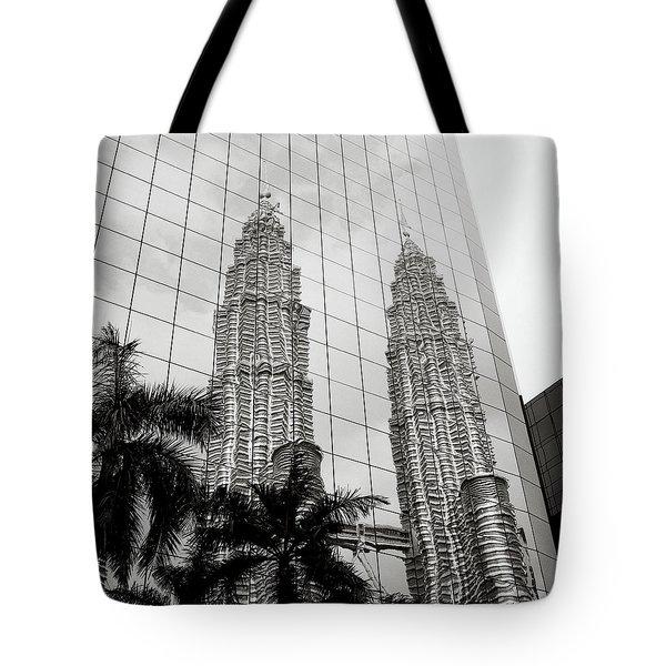 Petronas Towers Reflection Tote Bag
