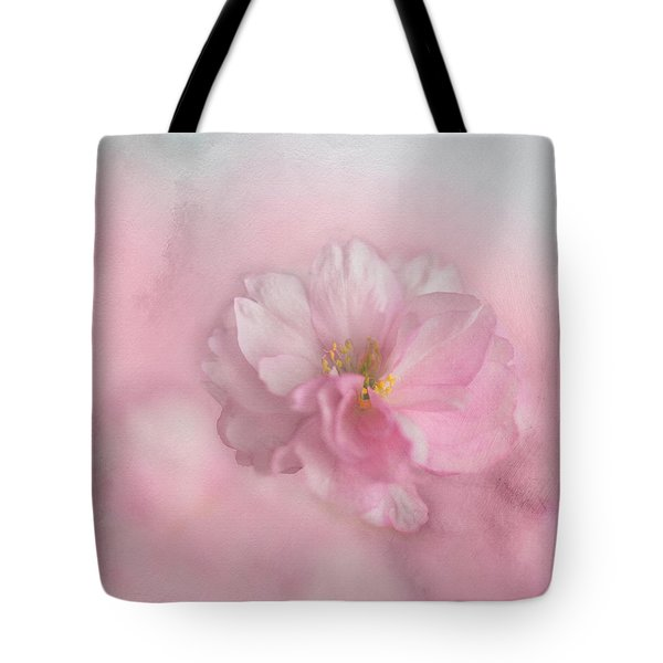 Tote Bag featuring the photograph Pink Blossom by Annie Snel