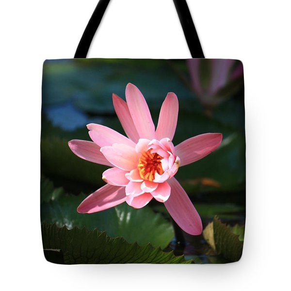 Pink Water Lilly Tote Bag