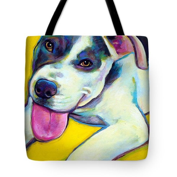 Pit Bull Puppy Tote Bag by Robert Phelps