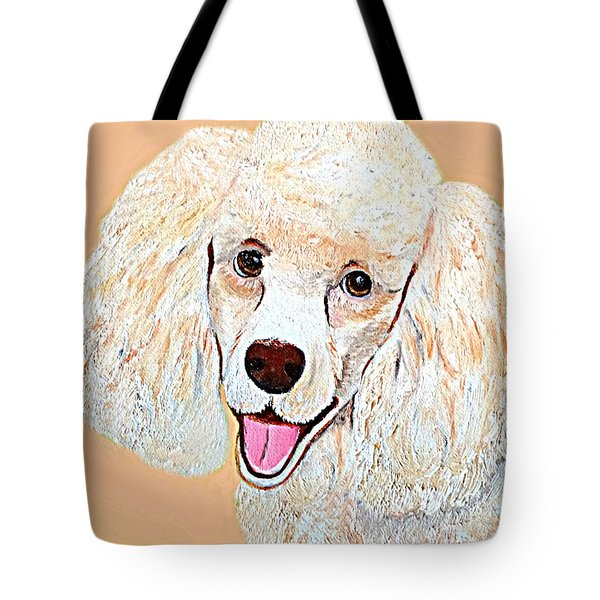 Tote Bag featuring the painting Poodle Art Print by Shelia Kempf