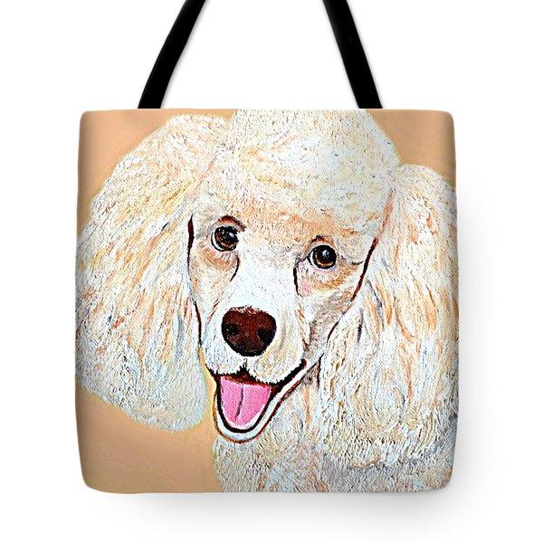 Poodle Art Print Tote Bag by Shelia Kempf